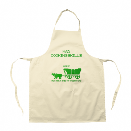 Oregon Trail Inspired Mad Cooking Skills Apron